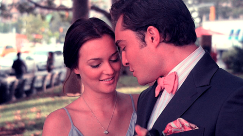 Gossip Girl wallpaper with a business suit titled Blair and Chuck<3