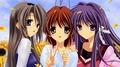 Clannad-Nagisa, Kyou,Tomoyo