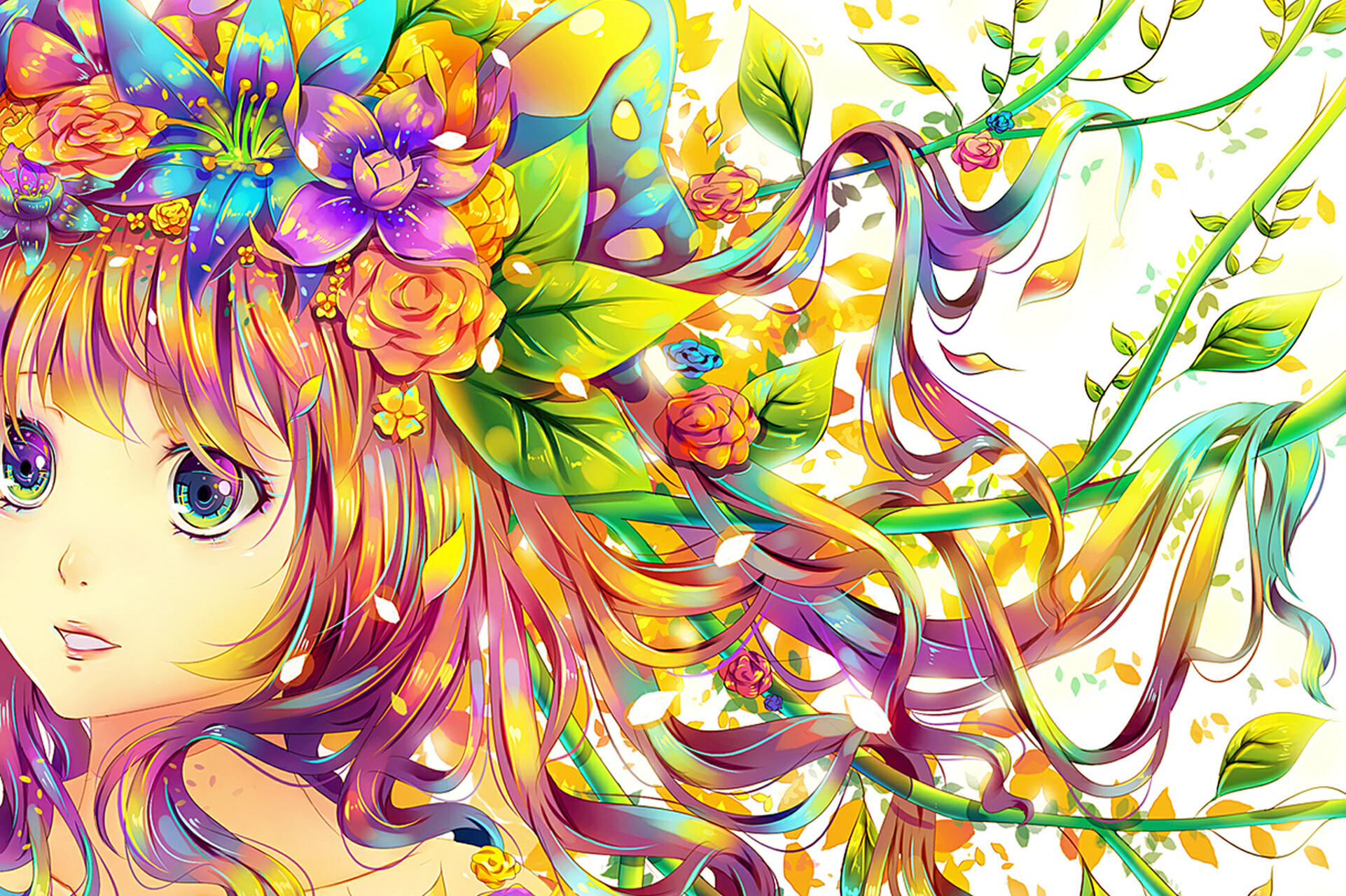 Colorful Anime Wallpaper 1920×1080
