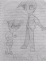 Conan Edogawa and Heiji Hattori Drawing using Pencil