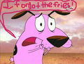 Courage forgot the fries! - courage-the-cowardly-dog fan art