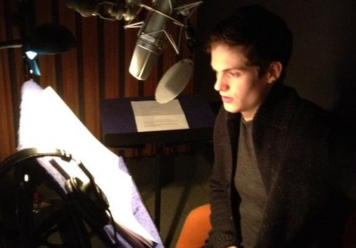 Daniel Sharman In Recording Studio For 'Clockwork Princess' Audiobook!