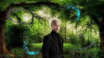 Draco Malfoy wallpaper with a business suit and a live oak titled Dark Forest