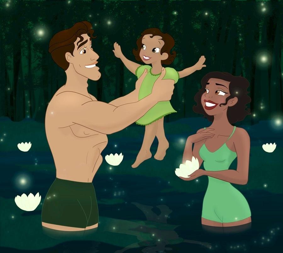 Disney Princess Families by: Grodansnagel