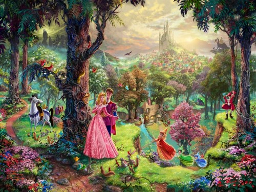 迪士尼 Princesses artist paintings
