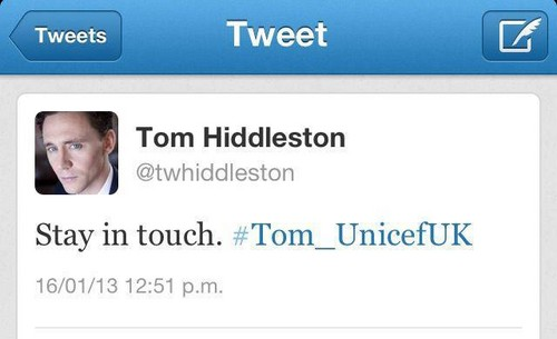 Tom helping out @Unicef_UK