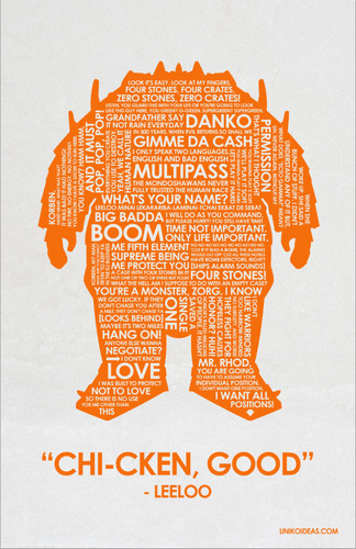 The Fifth Element wallpaper entitled Fifth Element Quote Poster