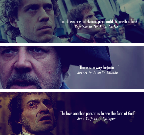 Final Line of Les Misérables Characters