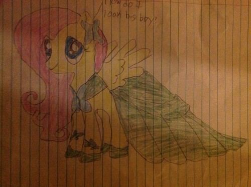 Fluttershy's wedding dress