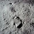 Footprints on the Moon - space photo