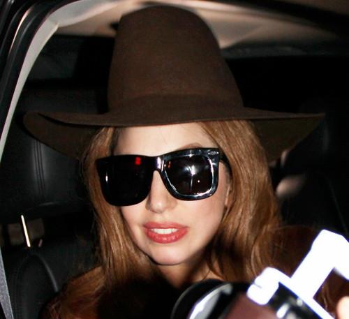 Gaga on her way to Staples Center (Jan. 21)