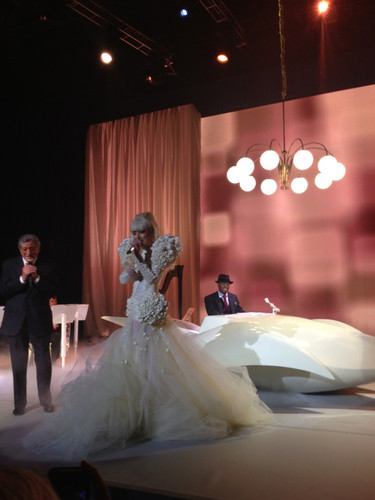 Gaga performing for White House Staff