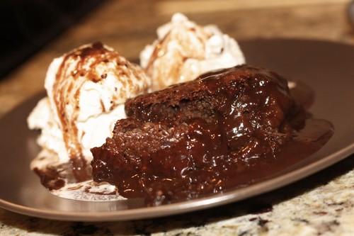 Hot chocolat Fude Cake