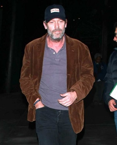Hugh Laurie, leaving the Staples Center in Los Angeles on Friday, January 4, 2013