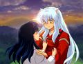Inuyasha and Kagome - inuyasha-and-ranma-1-2 photo