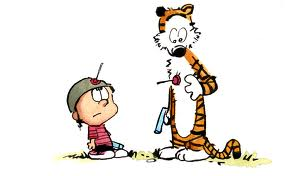 Calvin & Hobbes 바탕화면 entitled It's a draw.