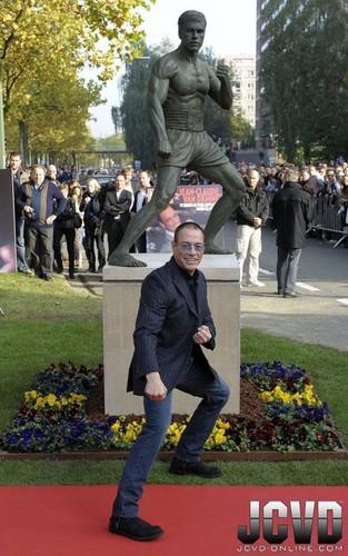 JCVD and his statue