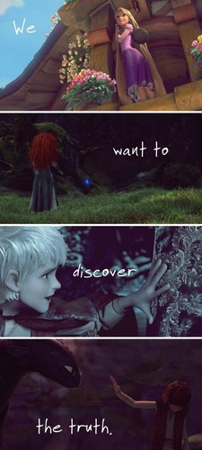 Jack, Merida, Hiccup and Rapunzel