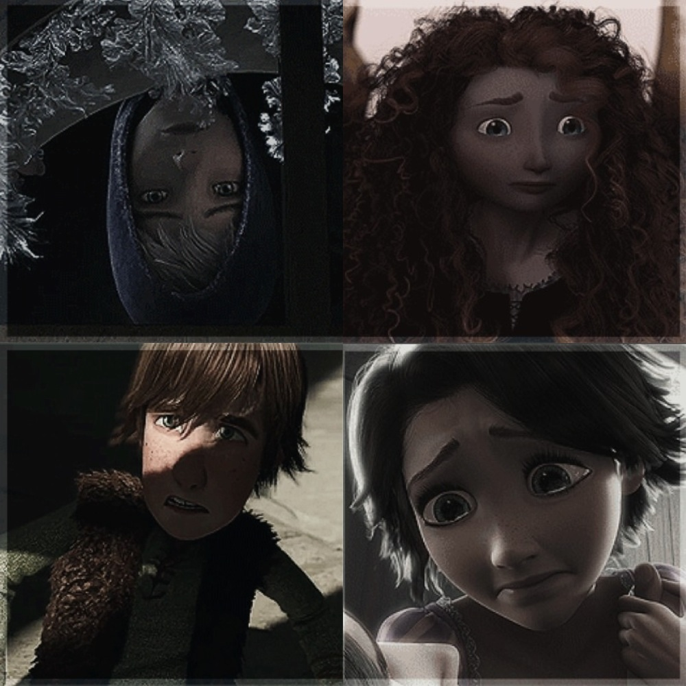 Jack rapunzel merida and hiccup the big four photo 33359046