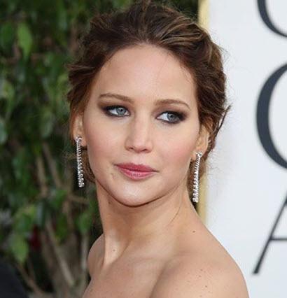 Jennifer Lawrence's Golden Globes Makeup