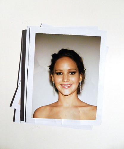 Jennifer's polaroid from the Golden Globes 2013.