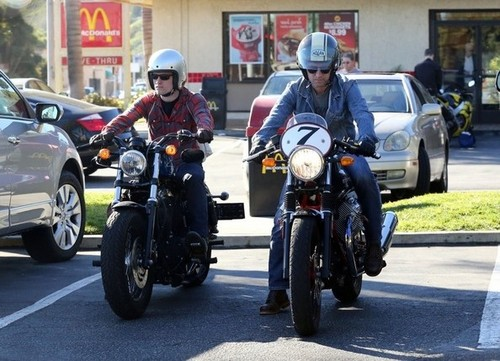 Josh out with his dad (1/20/2013)