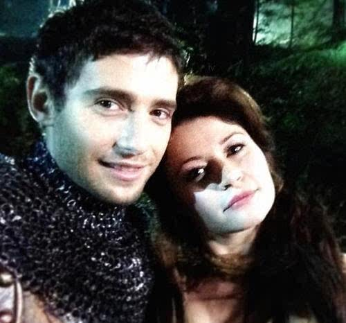 Julian Morris (Prince Phillip) and Emilie De Ravin (Belle)