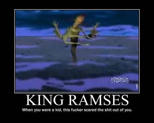 Courage the Cowardly Dog fond d'écran possibly with a sunset and animé titled King Ramses