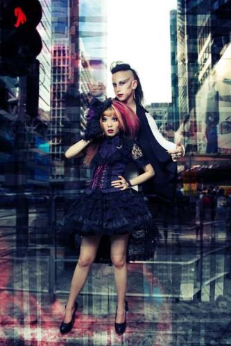 La Carmina Goth model, lacarmina cover of Dark Beauty magazine, gothic lolita fashion photoshoot