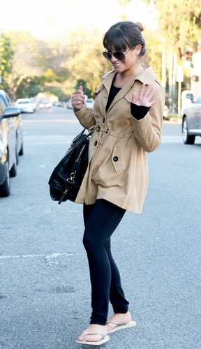 Lea Leaving A Nail Salon - January 16, 2013