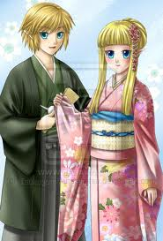 Link and Zelda in Japan