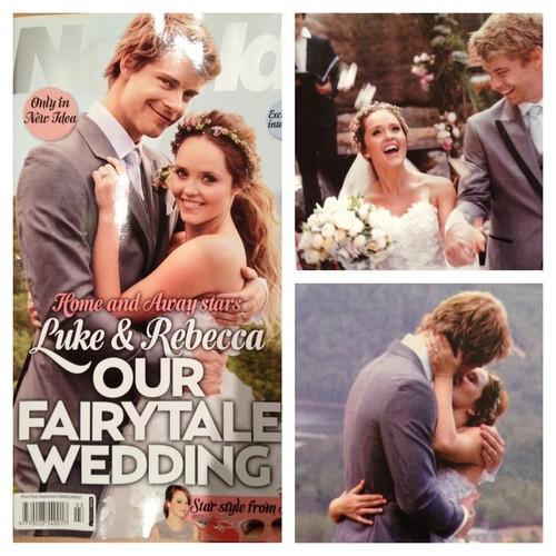 Luke Mitchell & Rebecca Breeds Wed!