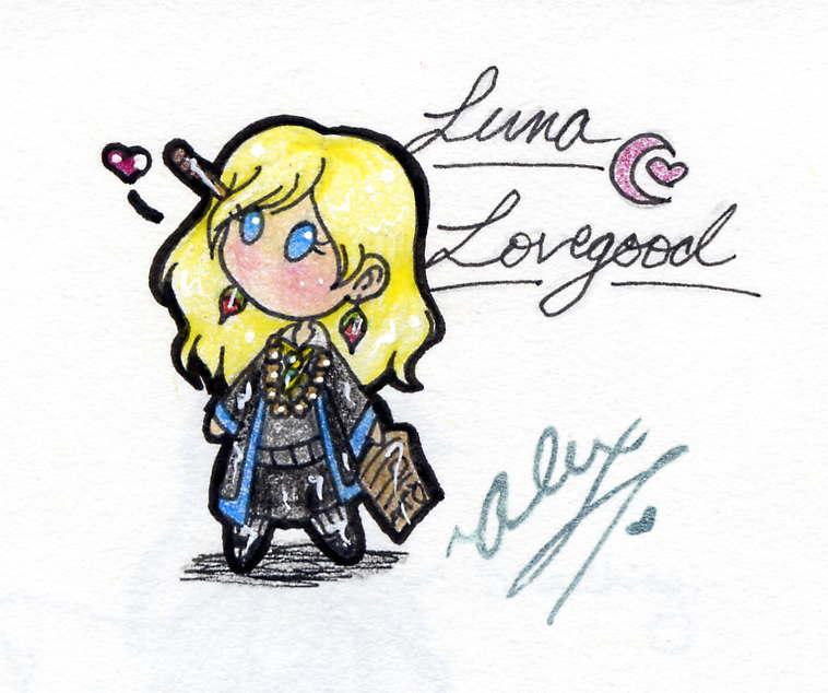 Luna Lovegood Chibi Loony Lovegood L Amour Fan Art