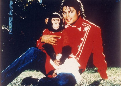 MJ and a monkey