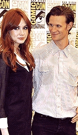 Matt Smith & Karen Gillan Обои containing a portrait entitled Matt and Karen