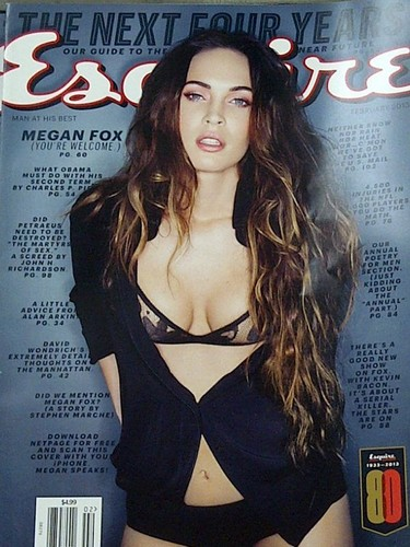 Megan on the Cover of Esquire 2013