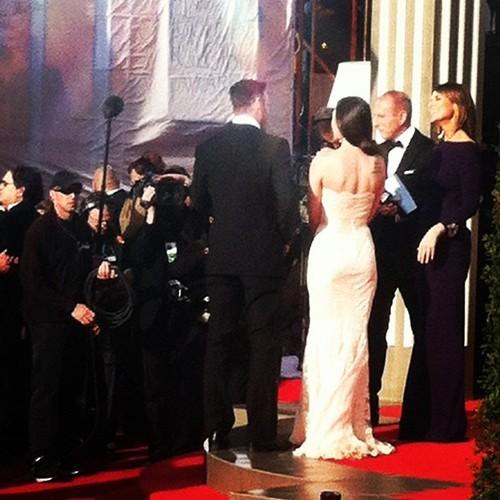 Megan @ the Golden Globes