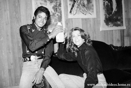 Michael And Actress, Jane Fonda