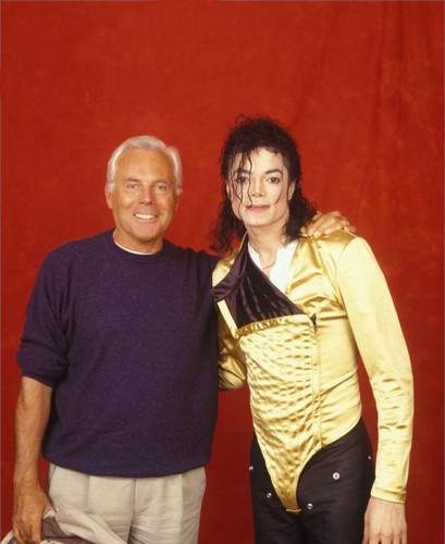 Michael And Fashion Designer, Gianni Versace