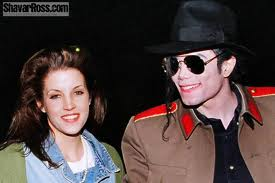 Michael Jackson wallpaper containing a fedora titled Michael And First Wife, Lisa Marie Presley