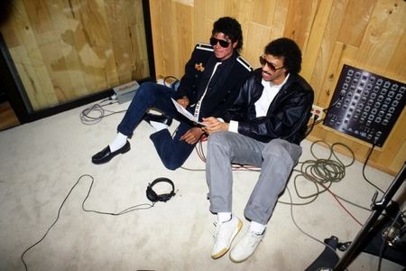 Michael And Lionel Richie In The Recording Studio