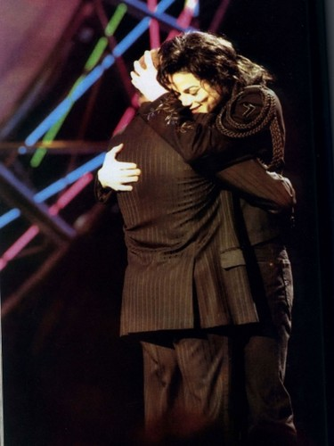 Michael Hugging Good Friend And Mentor, Berry Gordy