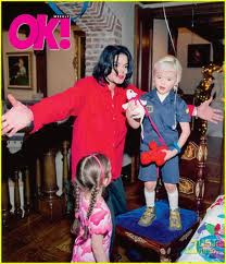 Michael and his kids on OK magazine!!!