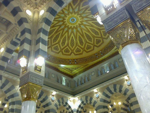 Islam پیپر وال probably containing a cathedra and a high altar titled Mosques of the world - Masjid al-Nabawi