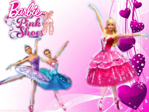 Barbie In The Pink Shoes Wallpaper With A Bouquet Entitled My Editing
