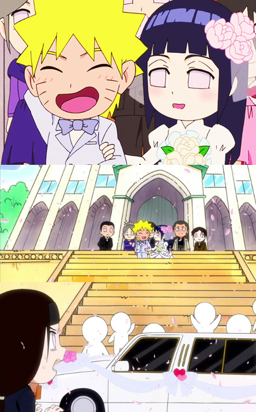 Naruto and Hinata get married and Neji is devastated (Scene from Naruto SD episode 40)