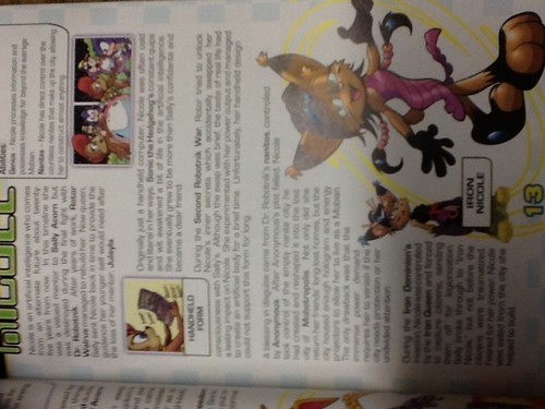 Nicole's page in the sonic the hedgehog comic encyclopedia