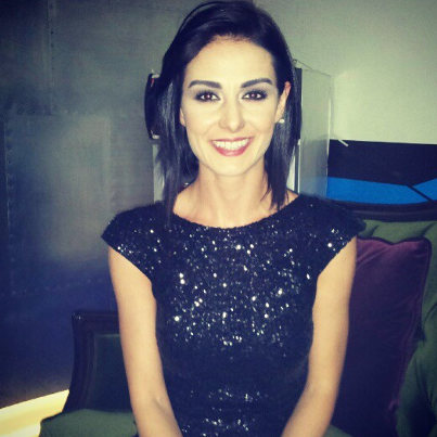 Ozlem Yilmaz with her new short haircut