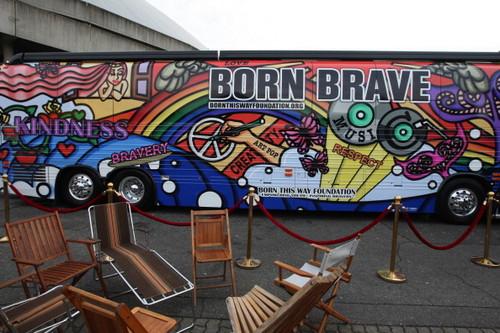 picha of the interior of 'The Born Brave Bus'
