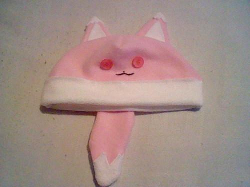 розовый лиса, фокс Hat